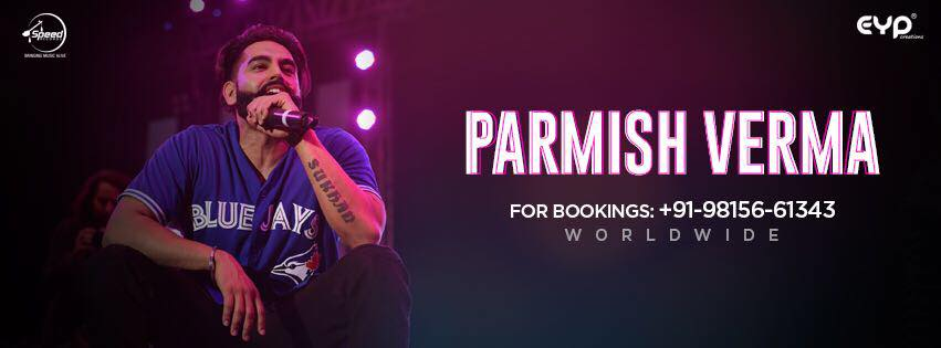contact number of parmish verma,book parmish show by contact on this number