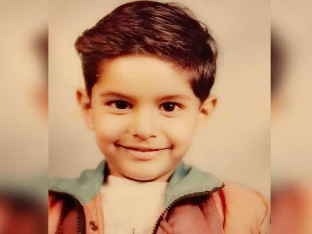 parmish verma childhood photo when he join theater,and going to school