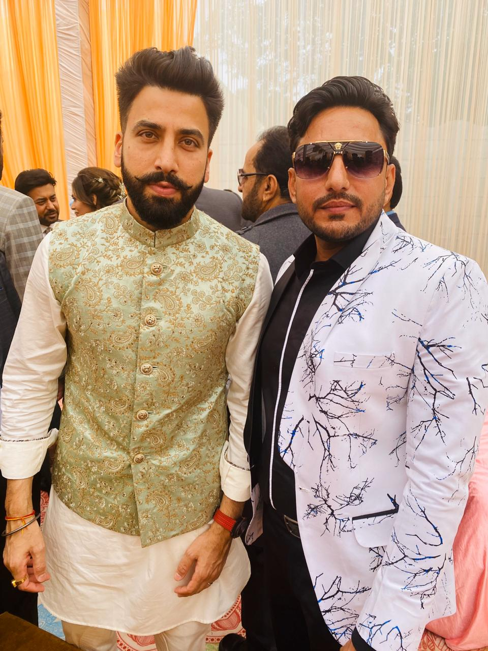 Gurdas Maan Son Marriage,family,gurikk maan,simran kaur mundi,photo