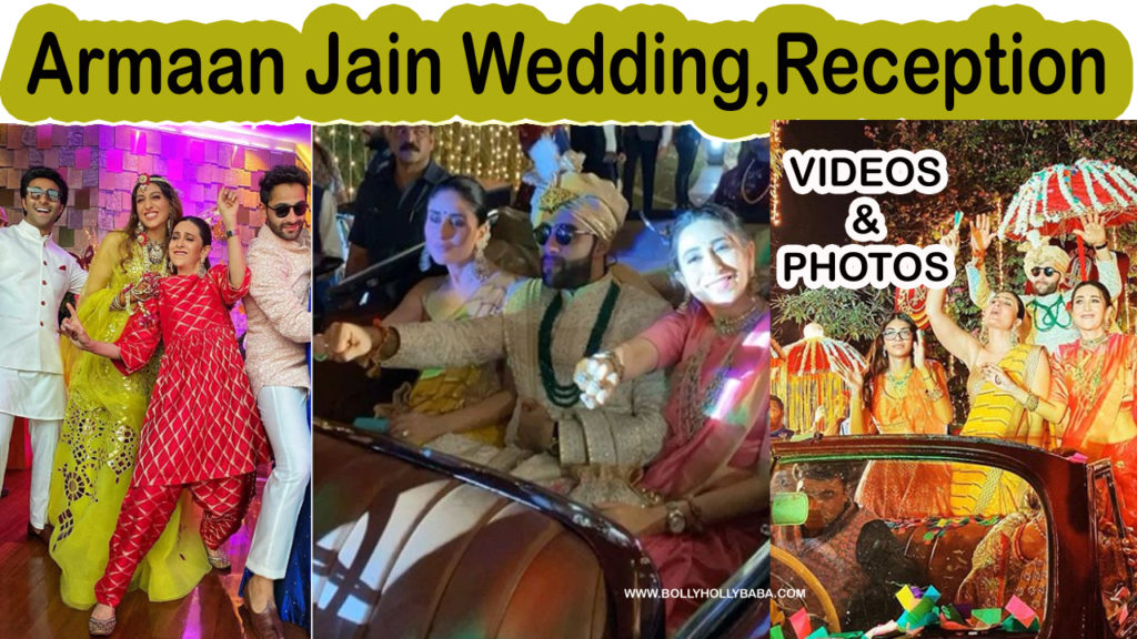 armaan jain wedding,marriage,photos,videos,reception,kareena kapoor brother,karishma kapoor brother,guests,celebrities,dance,couple dance,bharat,occasion,party,sweet couple,husbandwife