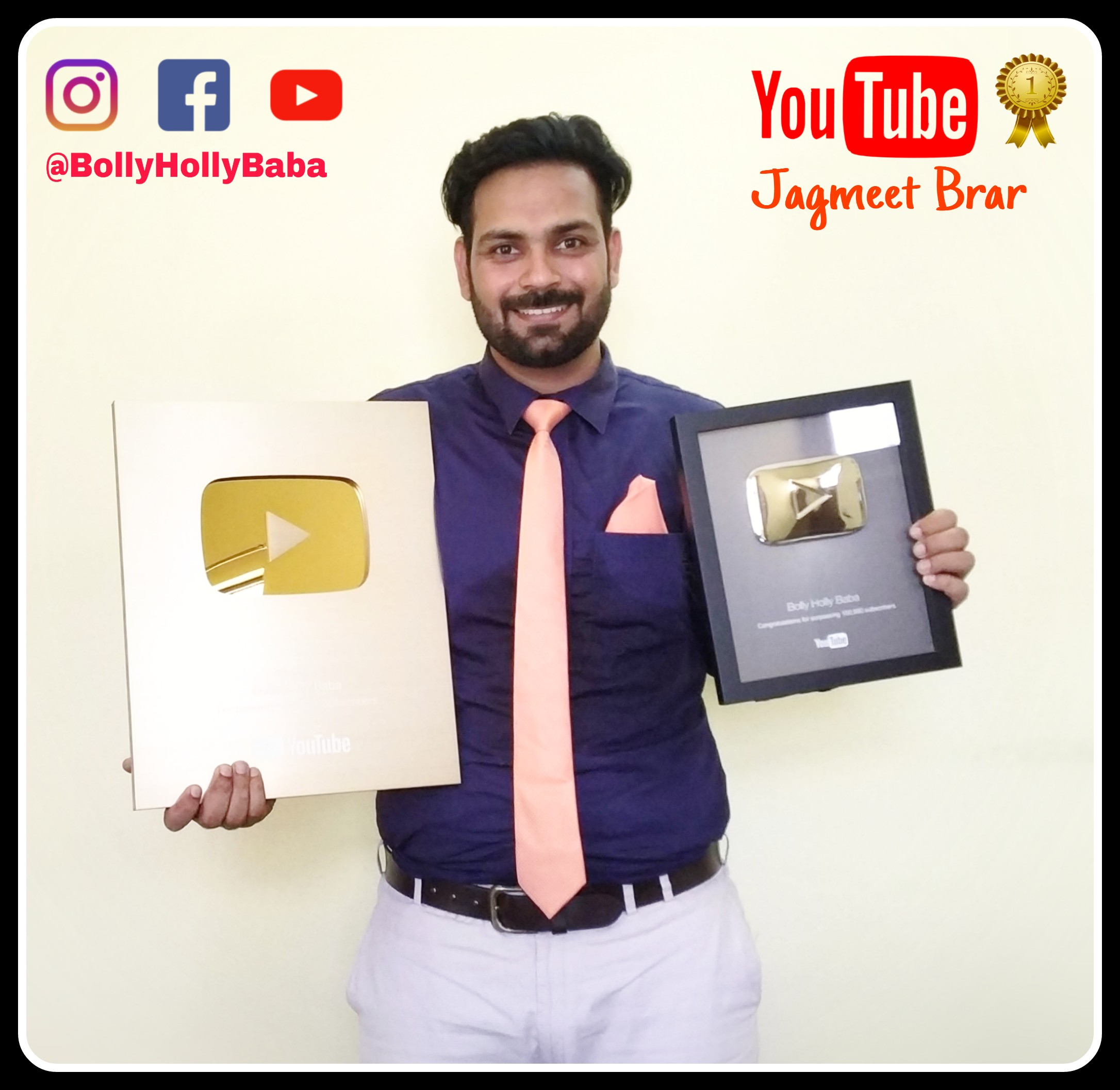 youtube mastery course by Jagmeet Brar,bolly holly baba,award winning punjabi youtube channel bolly holly baba